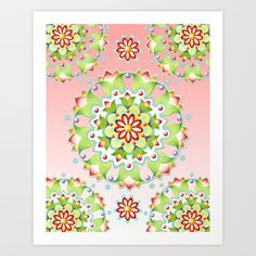 FREE worldwide shipping until June 30th - yippee #Pink Lotus Mandala Art Print by Patricia Shea Designs