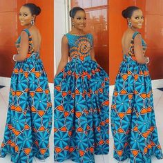 Check Out This Beautiful Ankara Gown Design