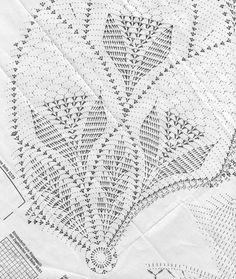 Beautiful tablecloth to crochet, cotton No. Crochet Tablecloth Pattern, Crochet Doily Diagram, Crochet Doily Patterns, Crochet Mandala, Thread Crochet, Filet Crochet, Crochet Stitches, Crochet Round, Hand Crochet