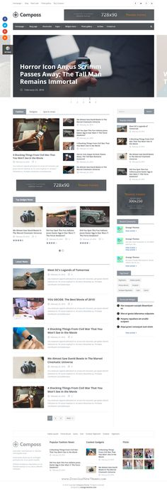 Composs Elegant WordPress Theme for Blog, Magazine and News Website.