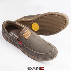 Quer praticidade para calçar e um look moderno?  Aposte nos modelos slip-on da linha Summer Jeans!  Ref: 8420-448C  #ferracini24h #fashion #cool #modamasculina #shoes