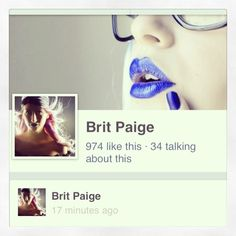 For beauty and style tips: Follow & LIKE Facebook.com/britpaige.style