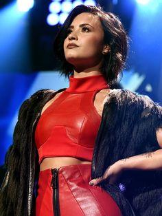 DECEMBER 1st - Demi Lovato at the 106.1 KISS FM Jingle Ball in Dallas