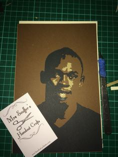 Feeling inspired by the Olympics. I'm looking forward to seeing more from @usainbolt  Who's your favourite Olympian? Maybe I'll do a papercut portrait of them next. #paperartist #papercraft #mrsscuffershandcut #mrsscuffer #portrait #paper #olympics #olympics2016 #rio2016 #rioolympics #usainbolt #usain #scalpel #holes #holesinpaper