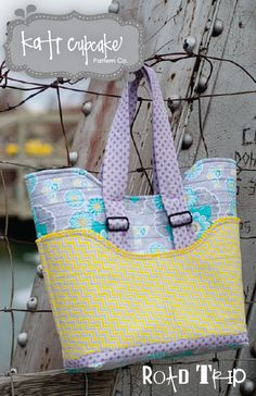 The Quilted Road Trip Bag - PDF Pattern from Kati Cupcake