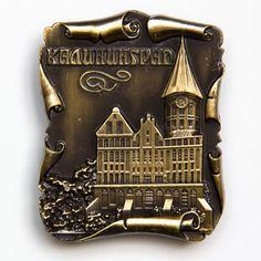 Metal Fridge Magnet: Russia. Kaliningrad. Cathedral Konigsberger Dom (Brass Color)