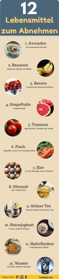12 Lebensmittel zum Abnehmen: Für eine gesunde Gewichtsabnahme. Eine Liste mit 12 Super Foods um schnell Gewicht zu verlieren.