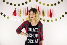 Death Before Decaf by SassAndCloth on Etsy
