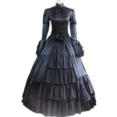 victorian gothic dress civil war costume women adult medieval dress halloween costumes for women black gothic lolita custom-in Lolita Dresses from Novelty & Special Use on Aliexpress.com | Alibaba Group