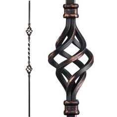 Best Post Cap For 4X4 Wood Post Wrought Iron Spiral Cannonball 400 x 300
