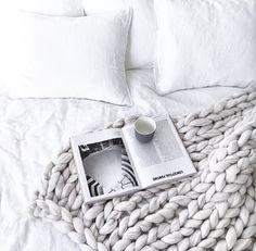 Immy and Indi | Chunky Knit Merino Throw Blanket