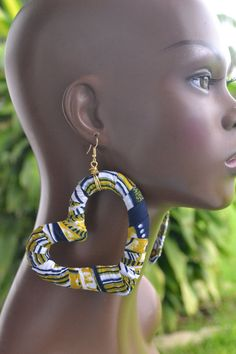 Large Afrocentric Heart Shaped African Fabric by MarcieRoxx, $24.00