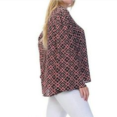 "Coral Scoop Neck Top Lightweight and loose scoop neck top. It can be dressed up with nice black leggings or pants or you can dress it down with jeans. It has a beautiful bell sleeve.   Length of top 29"" (based on size 1X) Bellino Tops"