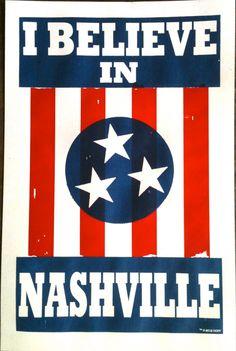 I believe in Nashville.