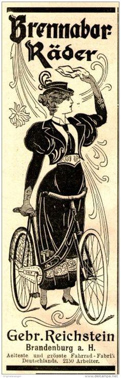 Original-Werbung/ Anzeige 1897 - BRENNABOR-RÄDER / REICHSTEIN - BRANDENBURG  - ca. 45 x 155 mm