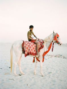 Life in India; Boy on a Horse by A Jacona