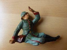 3 alte Hausser Elastolin Massesoldaten = 1x Verwundeter und 2x Lagerleben | eBay