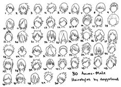 50 Anime Male Hairstyles By Doggerland