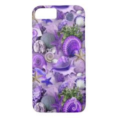 Fancy Purple Seashells iPhone 8/7 Case - fancy gifts cool gift ideas unique special diy customize