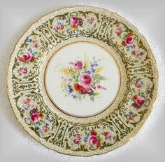 Royal Doulton set of 12 dinner plates - hand painted artist signed FREE SHIPPING #RoyalDoulton