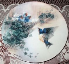 Lena Liu Cherub Chorale Nature's Poetry Series 12th Issue Collectors Plate Mint