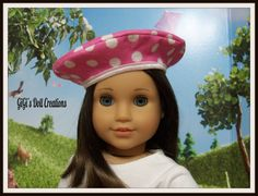 Beret for American Girl Doll Grace or other by GiGisDollCreations