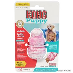 Kong Puppy Keep your puppy occupied with hours with the Kong Puppy Toy Made with the exclusive Kong teething rubber formula super-bouncy natural rubber compound can be chewed for hours especially designed for teething puppies Tough Dog Toys, Puppy Treats, Toy Puppies, Natural Rubber, Dog Supplies, Cute Baby Animals, Fun Games, Dog Food Recipes