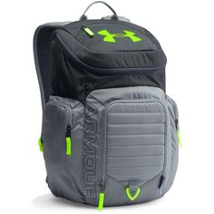 Under Armour UA Storm Undeniable II Backpack ($70) ❤ liked on Polyvore featuring men's fashion, men's bags, men's backpacks, stealth gray and mens laptop backpack