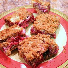 Inspired By eRecipeCards: Raspberry Cream Cheese Bars - Church PotLuck Dessert
