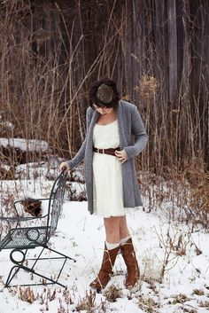 love the neutrals, and the knee socks in boots