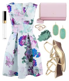 """""""Easter Contest"""" by kk-purpleprincess ❤ liked on Polyvore featuring Kate Spade, Closet, Lilly Pulitzer, Kendra Scott, Parisi, Chanel and aoeaster2016"""