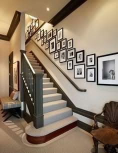 16 Best Photo Collage On Staircase Wall Images Picture Wall Diy