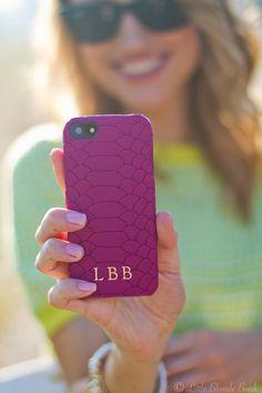 GiGi New York | Little Blonde Book Fashion Blog | iPhone Magenta Case