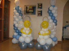 Decoración con globos para bautizo de niña - Imagui
