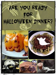 Spooky recipe round-up for a thrilling Halloween dinner! #halloween #vegan #fallrecipes