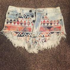 Tribal shorts Tribal shorts Shorts Jean Shorts