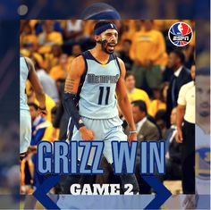 Memphis WINS game 2! The Grizzlies beat the Warriors, 97-90 to even up the series at 1-1.