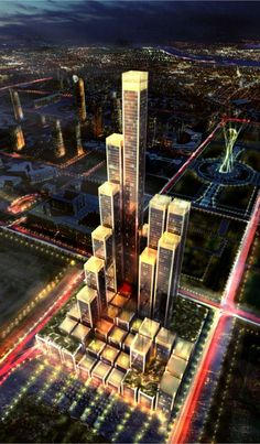 Abu Dhabi Plaza in Astana, Kazakhstan Located in Astana, Kazakhstan, Abu Dhabi Plaza was designed by Foster + Partners. Abu Dhabi Plaza is a staggered matrix of buildings with a retail and leisure podium and a hotel cluster at the base that rises to form a series of office and residential towers to the north – creating a new landmark on Astana's skyline. The retail podium contains elements which are a reinvention of a traditional