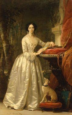 """""""Portrait of Grand Duchess Maria Alexandrovna"""" (1849) by Christina Robertson (1796-1854)."""