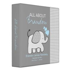 Baby Elephant Gray All About Baby Binder