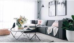 Apartamento pequeno e nórdico