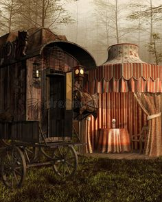 Katie becomes the fortune teller for the circus. This is the tent she works in. Gypsy Caravan Interiors, Halloween Circus, Halloween Ideas, Halloween Party, Gypsy Trailer, Gypsy Fortune Teller, Gypsy Home, Dark Circus, Gypsy Living