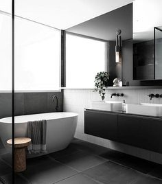 'Minimal Interior Design Inspiration' is a weekly showcase of some of the most perfectly minimal interior design examples that we've found around the web - all Bad Inspiration, Bathroom Inspiration, Interior Design Inspiration, Design Ideas, Bathroom Inspo, 3d Design, Design Trends, Modern Bathroom Design, Bathroom Interior Design