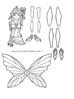 Peaceblossom Puppet to Color, Cut Out, & Assemble