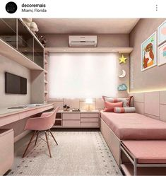 34 lovely dorm room organization ideas on a budget 23 Cute Bedroom Ideas, Cute Room Decor, Girl Bedroom Designs, Wall Decor, Small Room Bedroom, Room Decor Bedroom, Teen Bedroom Colors, Bedroom Kids, Dorm Room Organization