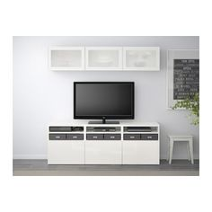BESTÅ TV storage -- for TV wall. Bean bag on either side for additional seating?