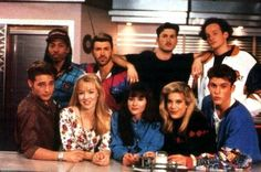 Beverly Hills 90210 Cast With Color Me Badd. If this doesn't just define the 90's, I don't know what does!