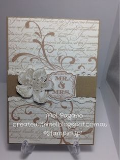 Wedding cards, Everything Eleanor and EnFrancais, Stampin Up - http://createwithmel.blogspot.com.au
