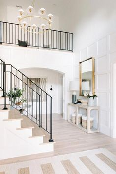 Top Unique Modern Staircase Design Ideas for Your Dream House - hdintex Minimalist Home Interior, Interior Modern, Interior Paint, Modern Home Exteriors, House Interior Design, Modern Minimalist House, Dream House Interior, Interior Colors, Modern Houses