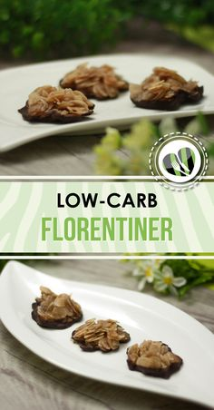 The low-carb Florentines are small, sweet snacks. They taste excellent and are also gluten-free and vegan. The low-carb Florentines are small, sweet snacks. They taste excellent and are also gluten-free and vegan. Low Carb Desserts, Low Carb Recipes, Diet Recipes, Aperitivos Vegan, Smoothie Detox, Vegan Appetizers, Low Carb Diet, Paleo Diet, Paleo Dessert